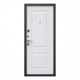 Дверь металлическая Вена винорит патина мдф/мдф белый матовый 2050x860мм левая