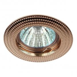 Светильник точечный Эра KL55 GD литой MR16 12В, 220В 50Вт золото