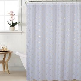 Штора для ванной комнаты Swensa Chiara 180х200см белый-золотой, полиэстер SWC-90-76