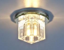 Точечный светильник G4, 8163 хром/прозрачный