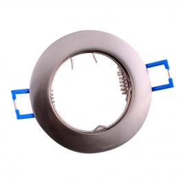 Точечный светильник Эра KL1 SN литой простой MR16, 12V, 50W сатин никель