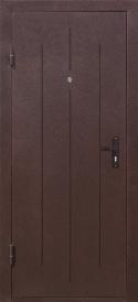 Дверь металлическая Стройгост 5-1 золотистый дуб, правая 880х2060мм