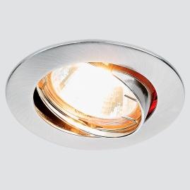 Светильник точечный Ambrella light 104S SS литой поворотный сатин серебро MR16