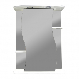 Шкаф-зеркало Акватория Лилия-55 с подсветкой