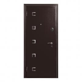 Дверь металлическая Меги 553-0446 венге 2050x870мм левая