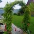 Арка садовая разборная Сетка широкая 2,5x0,5x1,2м К-101-1