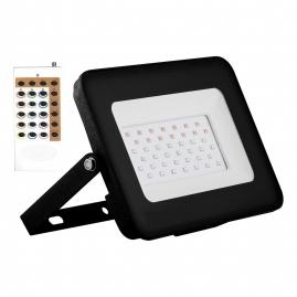 Прожектор светодиодный Feron LL-611 20Вт RGB IP65 2835SMD с пультом ДУ черный 29701