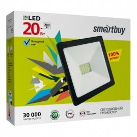 Прожектор светодиодный Smartbuy 20Вт 6500K IP65 SBL FLSMD 20 65K черный