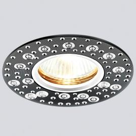 Светильник точечный Ambrella light A801 BK-AL литой сатин черный MR16