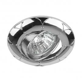 Точечный светильник Эра KL69A CH литой поворотный MR16 12В 220В 50Вт хром