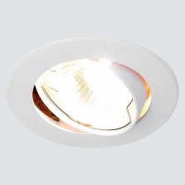 Светильник точечный Ambrella light 104S WH литой поворотный белый MR16