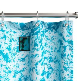 Шторка для ванной Fora Бордюр малахитовый PH65