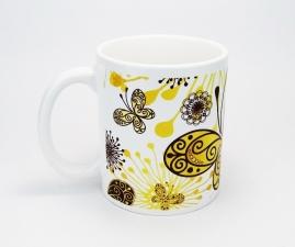 Кружка керамическая Бабочки KL07