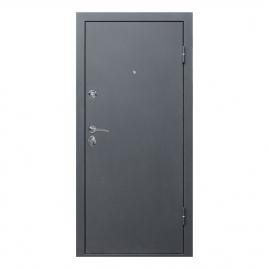 Дверь металлическая Троя серебро пепельный дуб 2050x860мм правая
