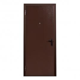 Дверь металлическая Меги 060 миланский орех 2050x860мм левая