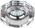 Точечный светильник Эра DK6 стекло, объемный многогранник MR16,12В-220В, 50Вт GU5.3 хром, зеркальный