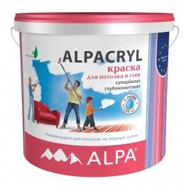 Краска Альпакрил DIY водоэмульсионная белая 2л