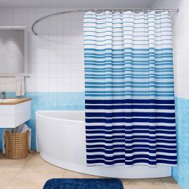 Штора для ванной комнаты Fora Royal Navy полоски FOR-RN096