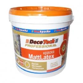 Краска DecoTech Маттлатекс влагостойкая 2,7л