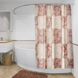 Шторка для ванной Fora Шахматные виньетки PH73