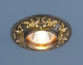 Точечный светильник Elektrostandard 7217 MR16 черный, золото