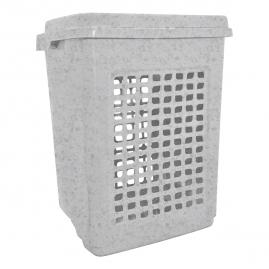 Корзина для белья мраморный 65л BQ1694МР