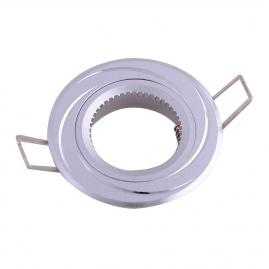 Точечный светильник Эра KL34 AL/SL алюминиевый MR16, 12V, 50W серебро/хром