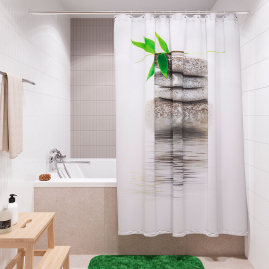 Штора для ванной комнаты Fora Бамбук на камне PH55