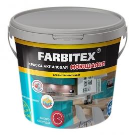 Краска акриловая Farbitex моющаяся 13кг