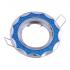 """Точечный светильник Эра DK17 CH/SHBL2 """"круглый со стеклянной крошкой"""" MR16, 12V, 50W, хром/голубой"""