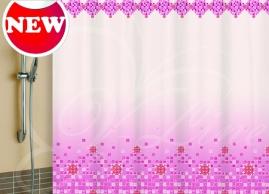 Шторка для ванной Vilina Мозайка розовая 1582-4