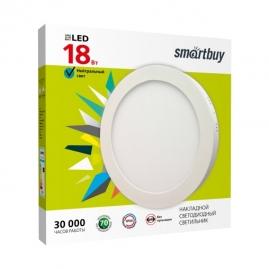 Светильник светодиодный Smartbuy Round накладной круг 18Вт 5000K IP20 225х40 бел SBL-RSDL-18-5K