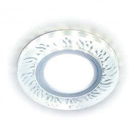 Светильник точечный Ambrella light LED S217 CL-FR прозрачный-матовый GU5.3+3ВтLED ВтHITE D90х25