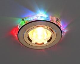 Точечный светильник 2020/2 золото/мультиподсветка (GD/7-LED) SC