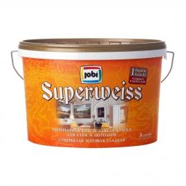 Краска для внутренних работ JOBI Superweiss L3 влагостойкая 5л