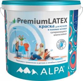 Краска ПремиумЛатекс для кухонь и ванных комнат, акриловая, влагостойкая 2л