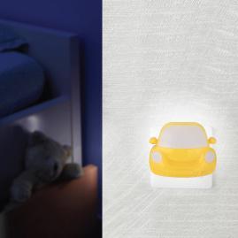 Ночник Camelion с выключателем машинка желтая NL-196 LED 220В 13143