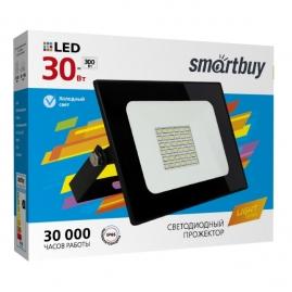 Прожектор светодиодный Smartbuy 30Вт 6500К IP65 FL  SMD LIGHT черный SBL-FLLight-30-65K