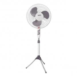 Вентилятор Ergolux напольный ELX-FS02-C31 серый с белым 16 дюймов , 45 Вт, 220-240 В, 130см 13427