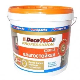 Краска ВД DecoTech влагостойкая 2,7л