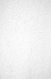Занавеска Duschy Roses Line белая 626-09
