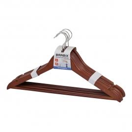 Набор вешалок деревянных Brabix Стандарт 5 штук , вишня 45см 601161
