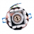 """Светильник Эра DK50 SL/WH декор """"куб с кристаллами"""" G9, 220V, 40W, зеркальный/прозрачный"""