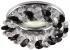 Точечный светильник Эра DK16 круглый с мелкими хрусталиками MR16,12В-220В, 50Вт хром, прозрачный