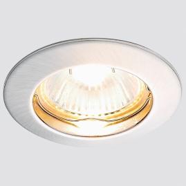 Светильник точечный Ambrella light 863A SS литой круг сатин серебро MR16