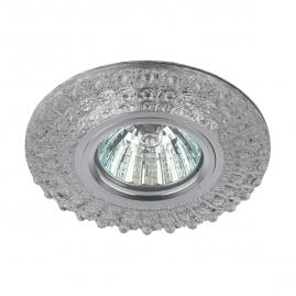Точечный светильник Эра DK LD2 SL-WH+PU cо светодиодной бело-фиолетовой подсветкой 3Вт прозрачный
