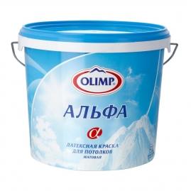 """Краска ОЛИМП """"Альфа"""" для потолков, латексная 5л"""