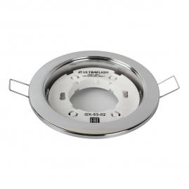 Светильник точечный встраиваемый Ultraflash GX-53-02 220В металл хром 14056