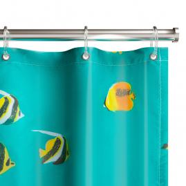 Шторка для ванной Fora Полосатые рыбки PH77