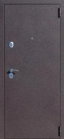 Дверь металлическая Троя шелк бордо беленый дуб, левая 960мм